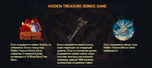 активация функции hidden treasure bonus game в слоте blood suckers 2