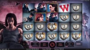 интерфейс игрового автомата dracula от netent